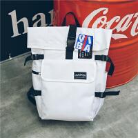 双肩包女韩版15.6寸电脑包高中学生书包男时尚潮流旅行装衣服背包 白色 【收藏送卡包】