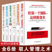 【正版6册】六本书教你管理这门学问 世界500强高效管理笔记 给你一个团队这样抓落实像大公司一样起舞驭人管理之术管理方