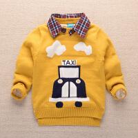 男童毛衣加绒套头小孩针织衫儿童毛线衣新款毛衫宝宝毛衣卡通潮款