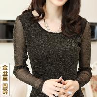 女士打底衫春秋薄款2018T恤新款韩版蕾丝长袖秋衣女外穿百搭上衣