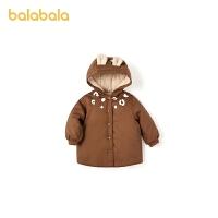 【3件4折:87.6】巴拉巴拉����棉服女童棉衣��憾��b棉�\2020新款小鹿保暖加�q甜美