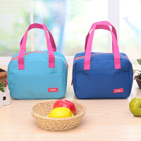 手提包带午餐便当包 加厚保温饭盒袋 时尚保鲜包小拎包奶瓶包 天蓝色