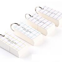 日本KOKUYO国誉WSG-TGM01MX格子印象单词卡便携式英语单词背诵卡|清新便签纸