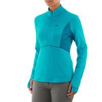 女式户外登山 长袖保暖T恤 速干透气半拉链