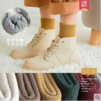 袜子女中筒袜网红时尚潮流日系加厚保暖毛巾袜户外新品加绒纯棉毛圈袜韩版长袜