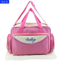 新款波点妈咪包多功能大容量防水母婴包 多袋孕妇待产包