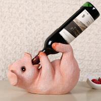 酒瓶架红酒架欧式客厅酒柜摆件家居玄关装饰品创意可爱猪葡萄酒架