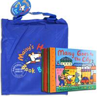 现货 现货 小鼠波波绘本故事 英文原版 Maisy Holiday Bag 6册套装 附赠配套图书收纳袋 廖彩杏书单