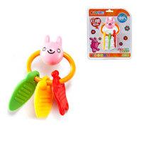 auby澳贝牙胶手摇铃463103婴儿奥贝初生宝宝组合玩具不含bpa