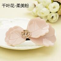 时尚韩版板材花朵蝴蝶发夹横夹弹簧夹发卡发饰优雅头饰
