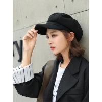 女士格纹八角帽 时尚潮流英伦画家帽女日系ins鸭舌八角帽女 韩版毛呢贝雷帽子女
