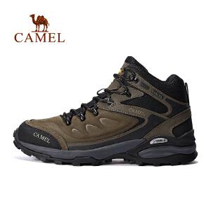 camel骆驼户外高帮登山鞋 男款耐磨防滑减震户外鞋