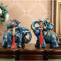大象摆件风水象一对吉象乔迁新居客厅酒柜装饰办公室开业礼品