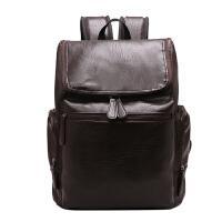 201809150143315732018款双肩包皮包潮包男生双肩背包书包皮革pu皮旅行包