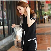 时尚短袖七分裤套装运动服潮 新款韩版女士休闲运动套装