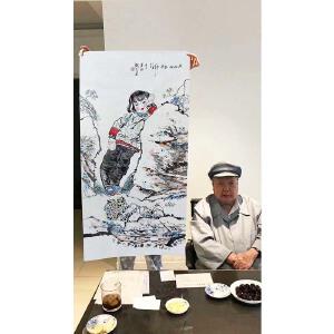 中国美术协会顾问 刘文西《人物》【附合影】PYQ