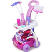 儿童过家家玩具仿真儿童清洁推车带吸尘器清洁工具清洁套装玩具