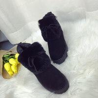 百搭韩版学生坡跟棉鞋豆豆鞋女秋季新款保暖加绒内增高平底鞋