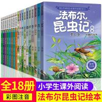 全套18册法布尔昆虫记合集 正版包邮小学生课外阅读书籍注音版儿童6-9-10-12周岁读物绘本故事一二三年级课外书必读青少版原著图书