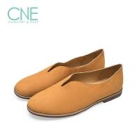 CNE春夏新款圆头低跟日系女休闲单鞋彩色鞋女 9M28301