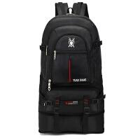 【可扩容】70升超大容量双肩包户外旅行背包男女登山包旅游行李包 黑色