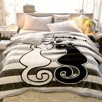 珊瑚毛毯子冬季午睡加厚法兰绒床单双人毛巾被空调被子 双人200X230cm 约9斤(双层加厚 新升级