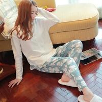 春秋纯棉月子服孕妇睡衣产后外穿哺乳喂奶衣家居服套装秋季韩版 153款白色