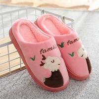秋冬季棉拖鞋冬天女士室内地板居家用厚底保暖月子鞋绒