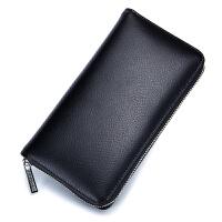 新款男士多卡位真皮大容量卡位卡包钱包一体包女长款拉链卡片包手机包