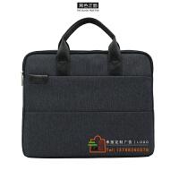 公文包男商务公事包 会议手提包帆布女业务文件袋电脑包定制LOGO