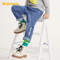 巴拉巴拉男童裤子儿童春装宝宝童装翻边牛仔裤休闲百搭外穿长裤男
