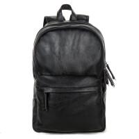 ?双肩包男士大学生书包背包男皮休闲旅行包时尚潮流韩版电脑包?