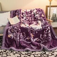 君别压花拉舍尔毛毯双层保暖拉舍尔毯婚庆毛毯厚毯床上用品