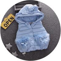 童装装01-2-3岁女宝宝羽绒棉马甲婴儿儿童保暖背心女童外套秋