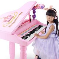 儿童电子琴麦克风 女孩学钢琴 宝宝小学生益智电子钢琴玩具 可供电小孩音乐琴