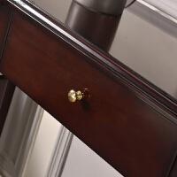 新古典半圆玄关柜隔断柜欧式玄关台条案桌子轻奢后现代美式门厅柜 整装