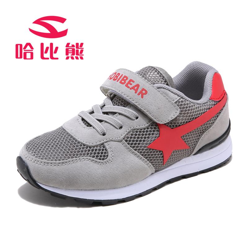 【2件3折到手69元】哈比熊童鞋男童鞋夏季运动鞋子韩版中大童跑步鞋网鞋女童