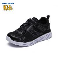 【限时抢:139元】斯凯奇(SKECHERS)儿童鞋 新款男童闪灯鞋 Z型搭带运动鞋660040L 全黑色-BLK