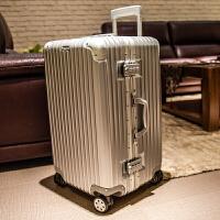 超轻加厚运动款拉杆箱30寸超大容量密码旅行箱男28寸女行李箱32寸 华丽银【加购收藏赠箱套】 铝框款加厚