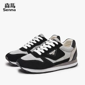 森马春夏男女情侣鞋子韩版潮运动休闲鞋系带学生男板鞋透气跑鞋