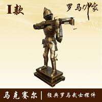 中世纪复古铁艺盔甲人 武士铠甲骑士模型 酒吧家居橱窗摆件装饰