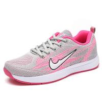 网面运动休闲鞋女韩版厚底鞋透气网鞋气垫跑步鞋新款时尚女鞋