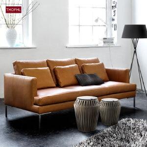 N空间 超感北欧沙发设计师新款W33 组合沙发转角沙发牛皮沙发羽绒沙发乳胶沙发