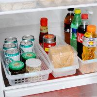 日本进口 冰箱收纳盒厨房置物盒冷藏储物收纳筐塑料整理篮