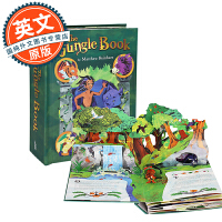 奇幻森林立体书 英文原版 The Jungle Book: A Pop-Up Adventure 进口童书绘本 迪士尼