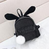 火女韩版时尚可爱兔耳朵小条书包