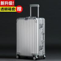 全金属铝镁合金拉杆箱万向轮30寸女全铝合金行李箱男铝框旅行箱 30寸【全铝材质 超大容量托运箱】