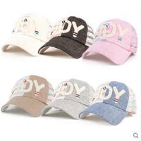 韩版简约英文帽子休闲时尚百搭棒球帽女士遮阳太阳帽透气的帽子