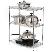 多功能落地厨房置物架 不锈钢架子 锅架 层架收纳架 厨房用具