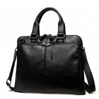 手包公文包商务手提包斜挎单肩包斜跨包男包包男士休闲包袋 大气黑 单包
